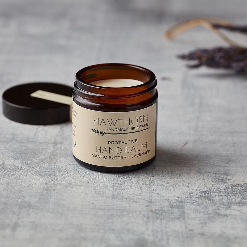 Hawthorn Handmade Skincare Protective Hand Balm Mango Butter & Lavender, 60ml