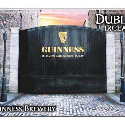 Guinness-Epoxid-Magnet der St. James's Gate-Brauerei  der Heimat des Guinness in Dublin