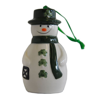 Watervale Parian China Hanging Decoration - Snowman