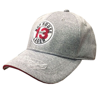 Official Guinness Grey Baseball Cap With Hop House 13 Lager Label Design