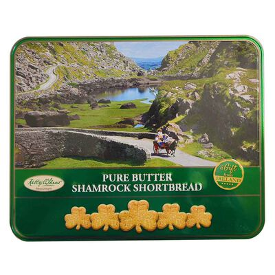 A Gift From Ireland Pure Butter Shamrock Shaped Shortbread Tin  270G