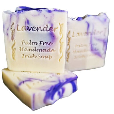 Palm Free Irish Lavender Creamy Soap Bar – Handcrafted in Ireland