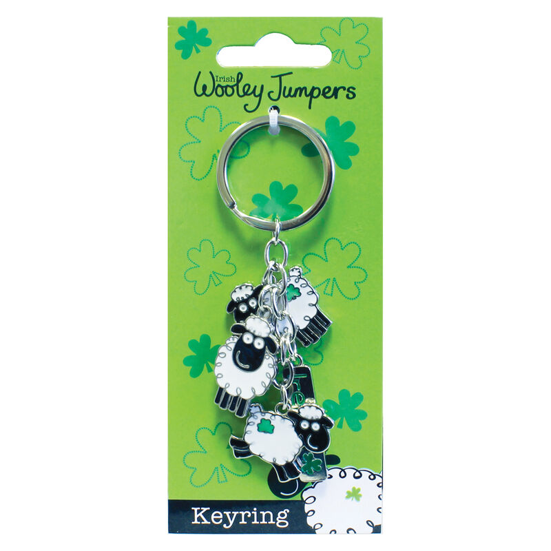 Sheep Charm Keychain - Wooley Jumper