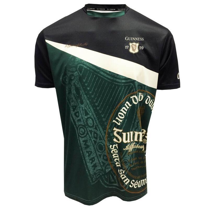 Bottle Green And Black Guinness Short Sleeve Performance Jersey