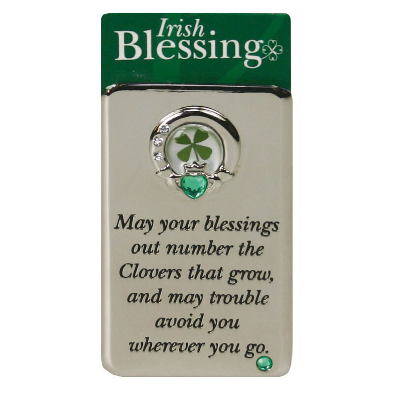 Metal Magnet With Four Leaf Clover For More Blessings