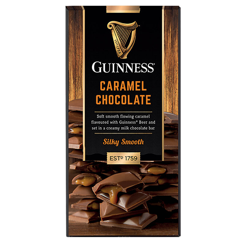Guinness Milk Chocolate and Caramel Bar  90G