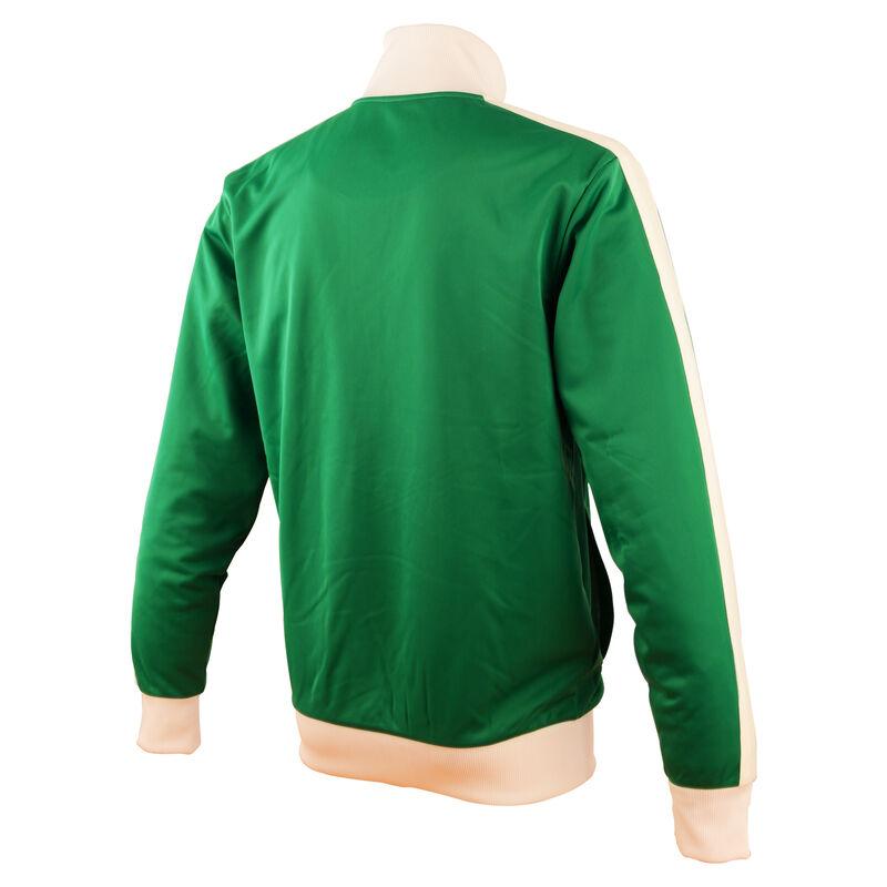 Retro Designed Ireland Football Cotton Zippy Jacket, Green Colour