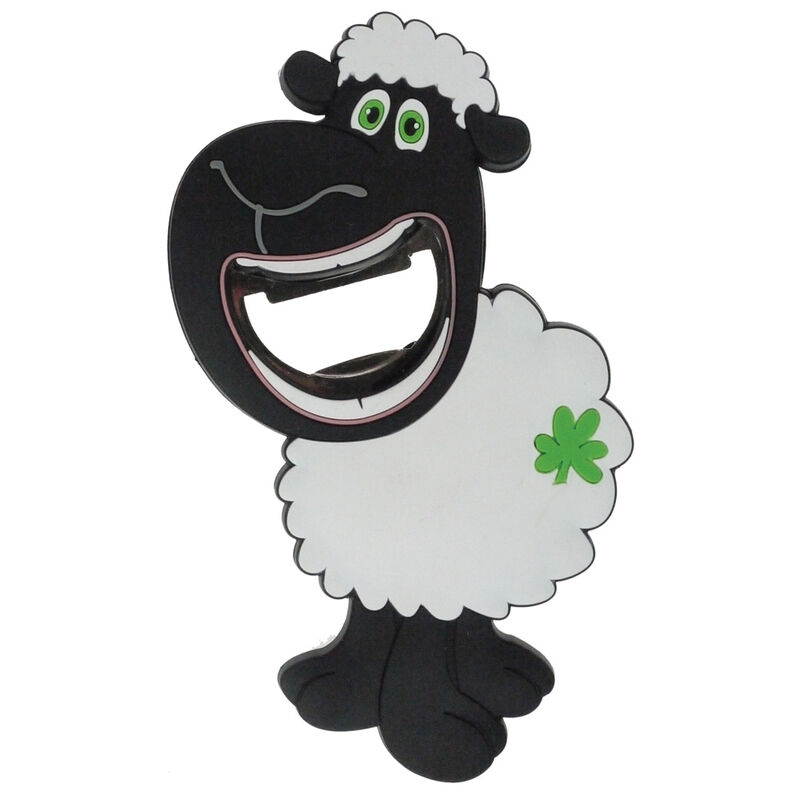 Pvc Magnet With Smiling Sheep And Bottle Opener
