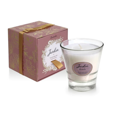 Tipperary Crystal Jardin Collection Lavender Scented Candle