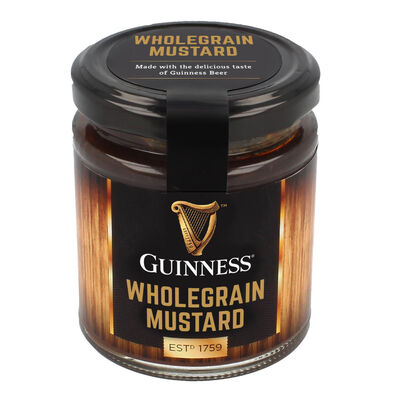 Guinness Wholegrain Mustard with the Delicious Taste of Guinness Beer  190G