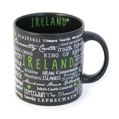 Keramikbecher mit Irland Graffiti Stil Druck