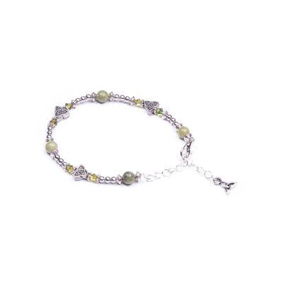Small Triskele Design Connemara Bracelet