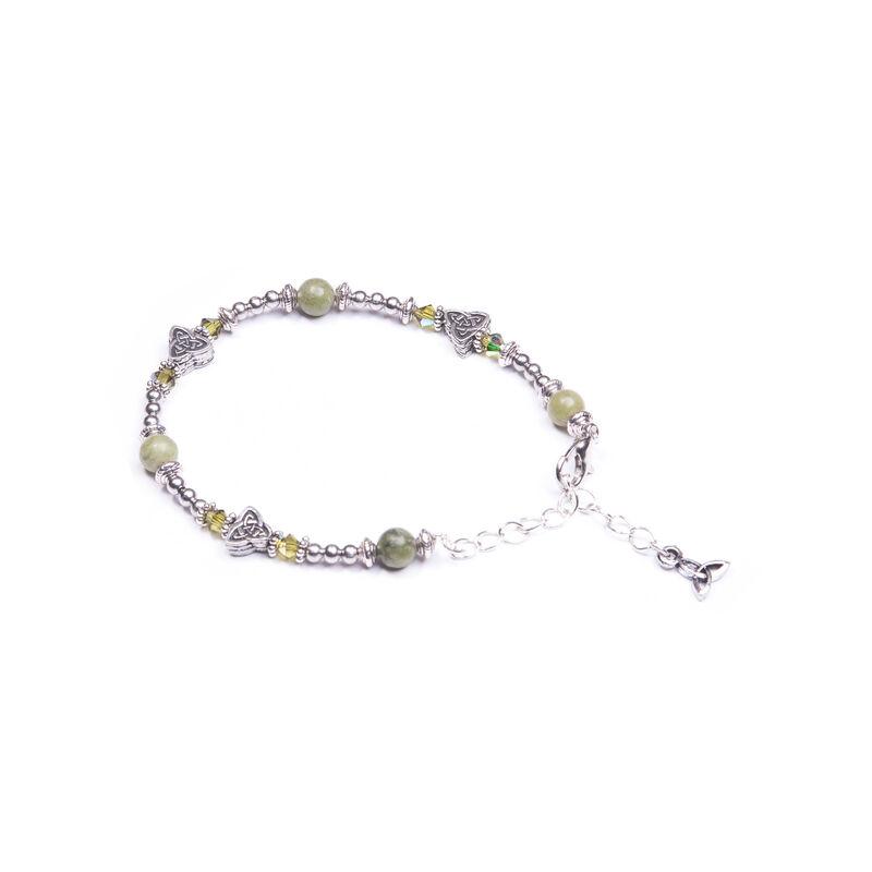 Small Triskele Design Connemara Bracelet  Handmade In Ireland