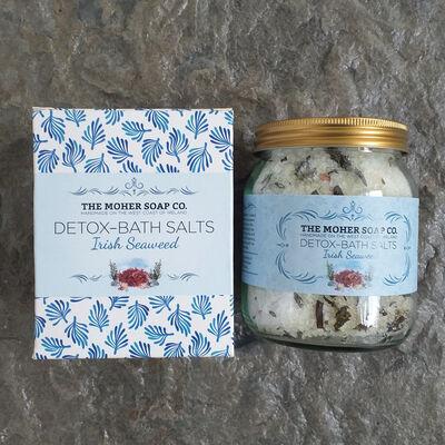 The Moher Soap Co. Irish Seaweed Detox Bath Salts, 320G Jar