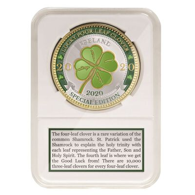 2020 Special Edition Coin With Lucky Four Leaf Clover Design