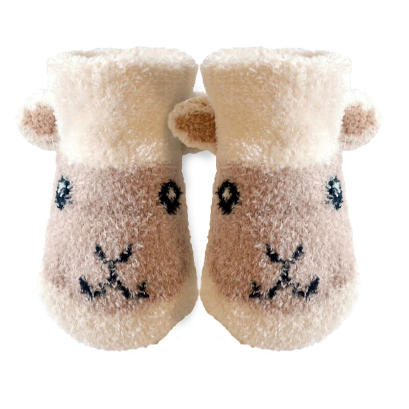 Patrick Francis Ireland Kids Woolly  Sheep Face Booties  Cream Colour