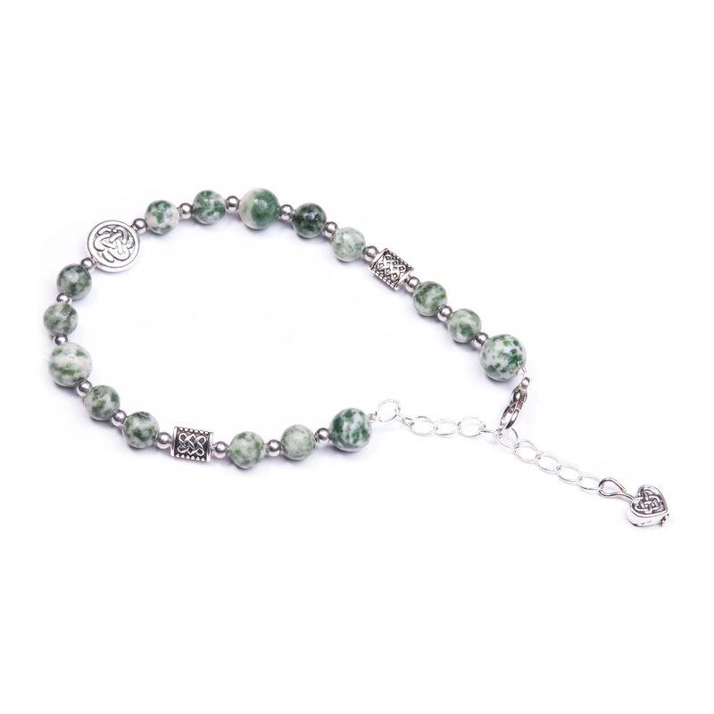 Celtic Knot Designed Tree Agate Bracelet