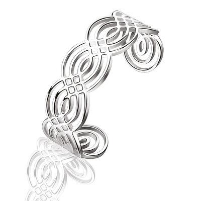 Newbridge Silverware Silver Plated Bangle With Celtic Design
