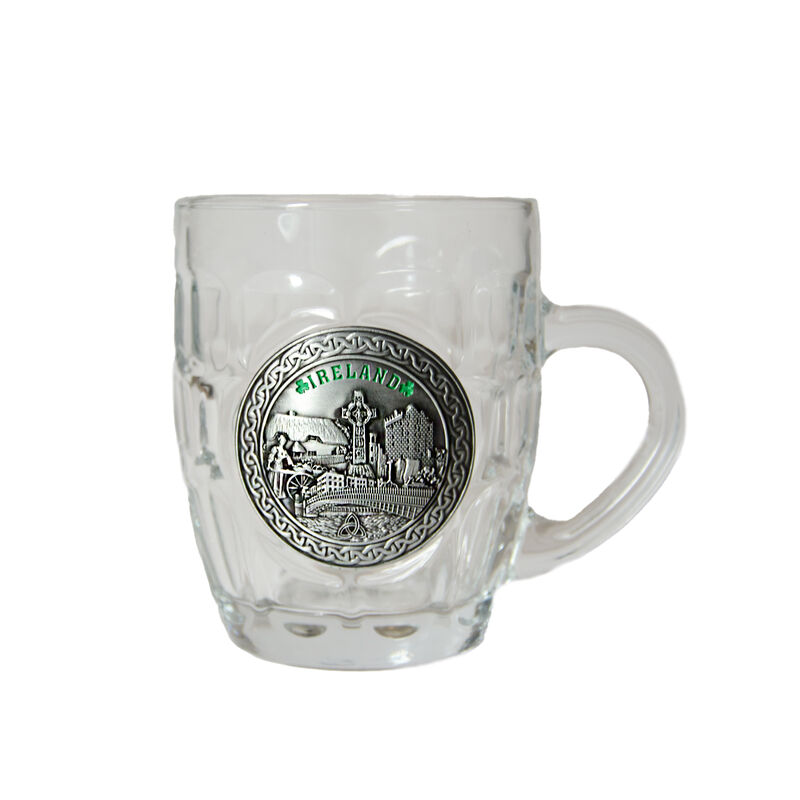 Dimple Tankard With Ireland Designed Pewter Badge