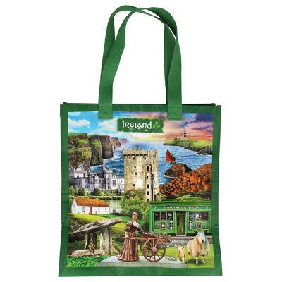 Ireland Montage Bag With Famous Irish Landmarks Design
