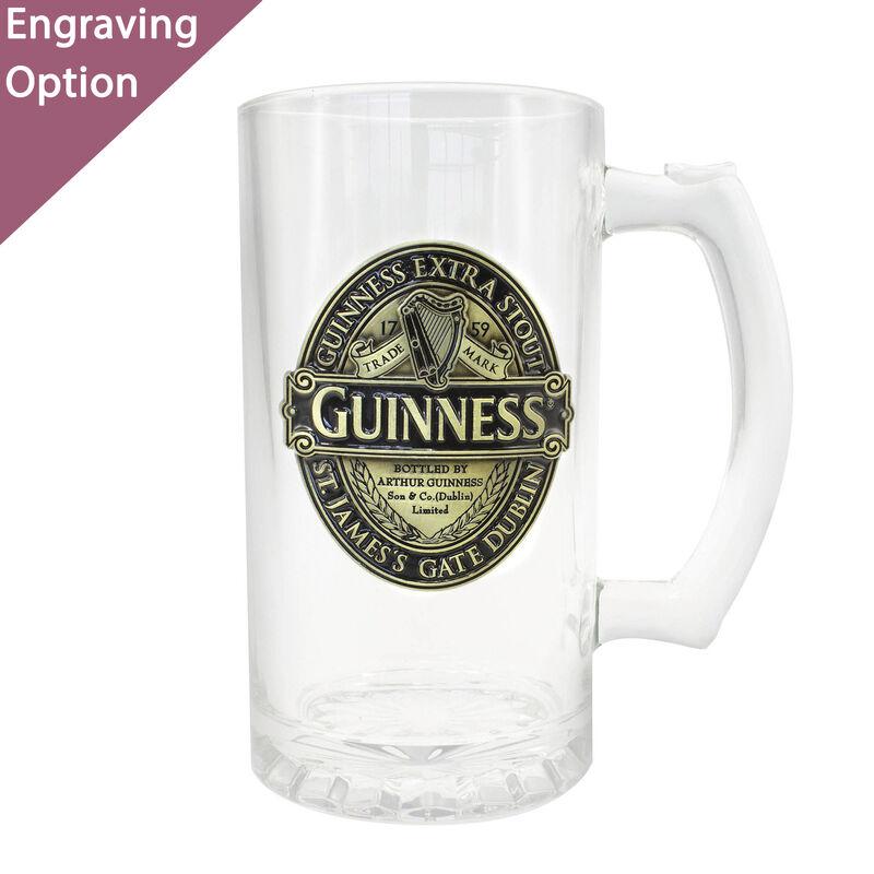 Guinness-Bierkrug mit gold-schwarzem Aufdruck der Guinness Classic-Kollektion (Geschenkbox optional)