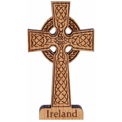 High Cross Shaped Wooden Plaque