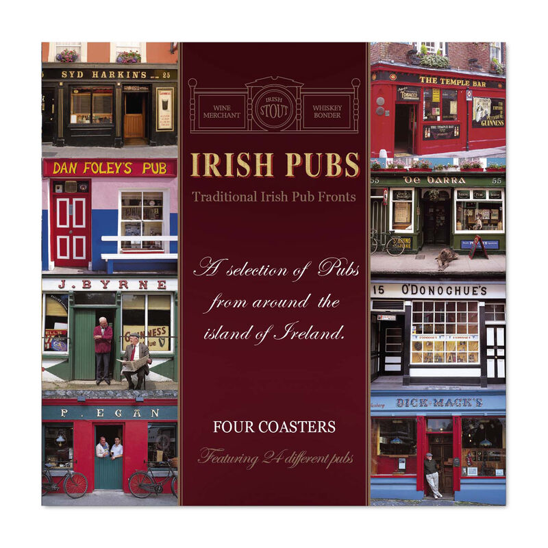 Irish Pubs Designed Coasters - Set of Four