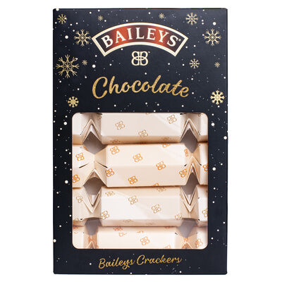 Six Pack Of Baileys Christmas Crackers With Milk Chocolate Truffles, 135G