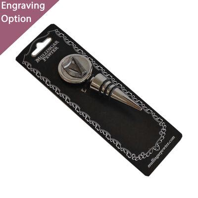 Mullingar Pewter Wine Stopper  Harp Design