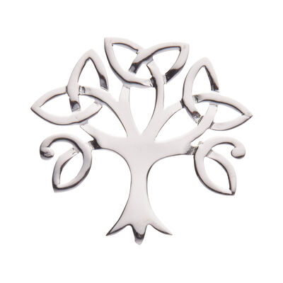 Hallmarked Sterling Silver Celtic Tree Of Life Brooch  Presented In A Box