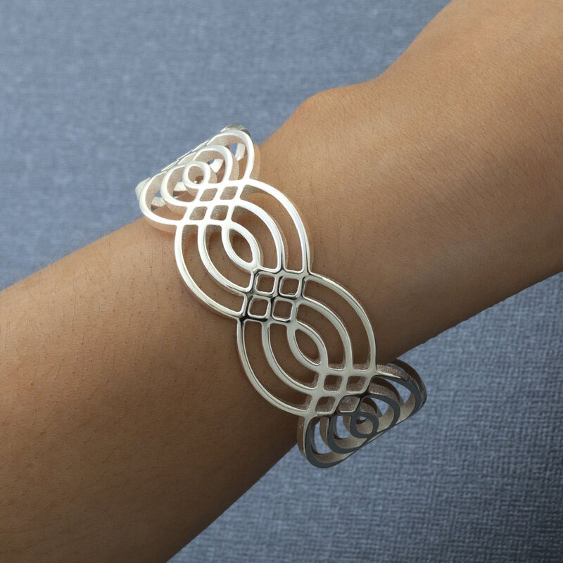 Newbridge Silverware Silver Plated Bangle With Celtic Design