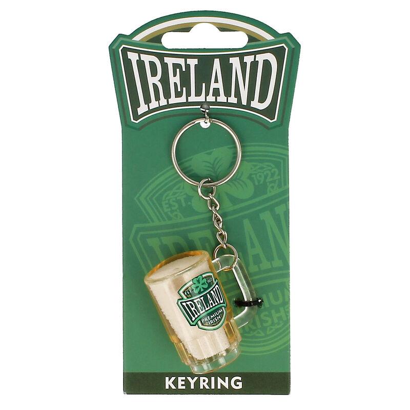 PVC Tankard Keychain With Ireland Varsity Crest