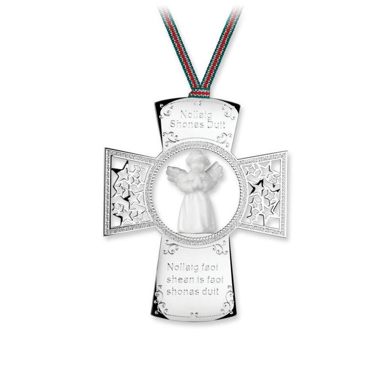 Newbridge Silverware Cross with Angel Hanging Decoration