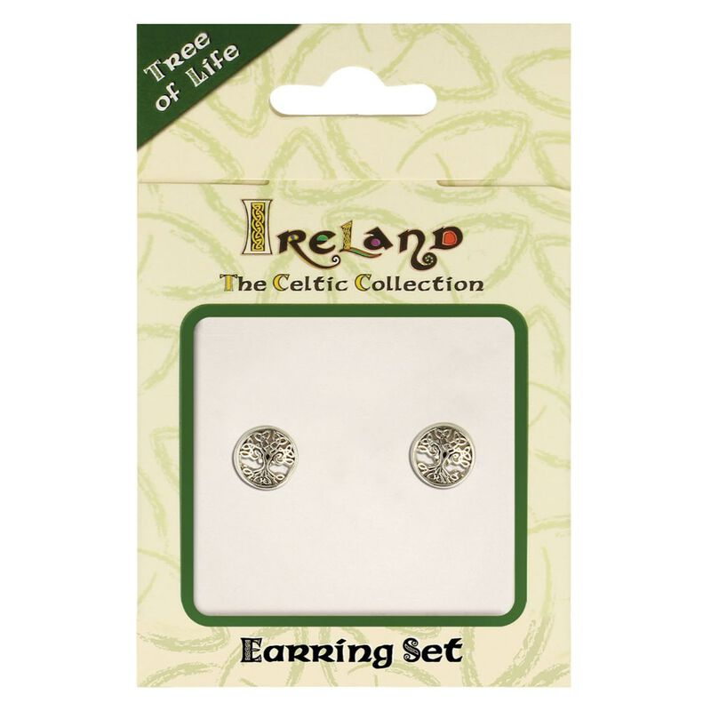 The Celtic Collection Ireland Earrings With Tree Of Life Design