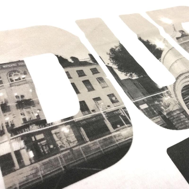 T-Shirt With Dublin Photograph Print  White Colour