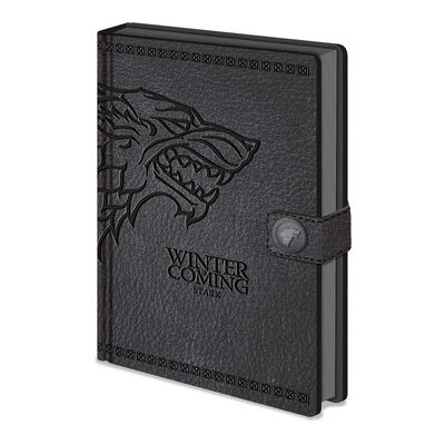 Game Of Thrones Stark A5 Premium Clasp Notebook
