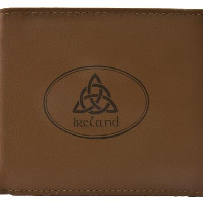 Tinnakeenly Leathers Gents Wallet With Trinity Knot And Ireland Design