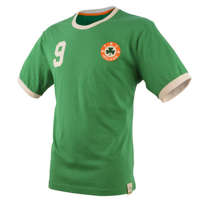 Retro Designed Ireland Football Cotton T-Shirt, Green Colour