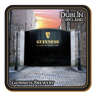 "Guinness Untersetzer ""St. James's Gate""-Brauerei in Dublin - Heimat des ""Black Stuff"""