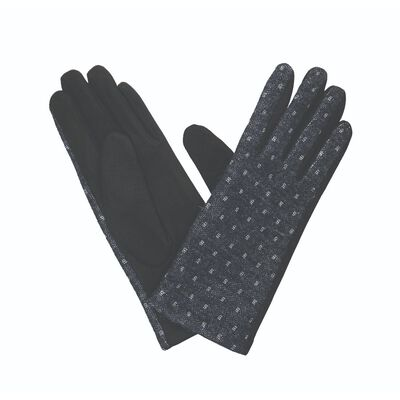 The Quiet Man Collection Leather Strap Gloves  Charcoal Colour