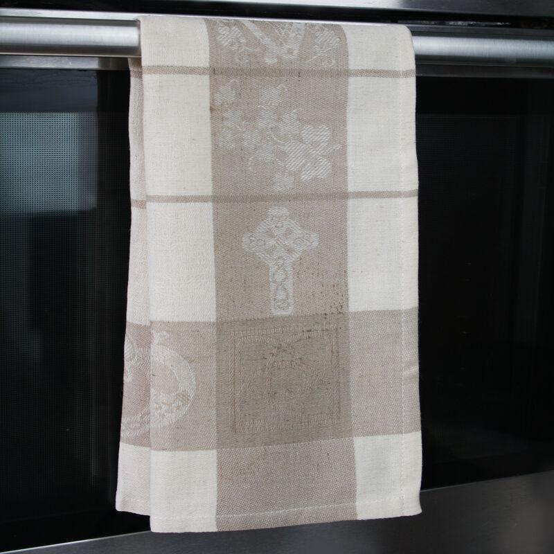 Naturleinen-Glastücher mit keltischem Symbol-Design