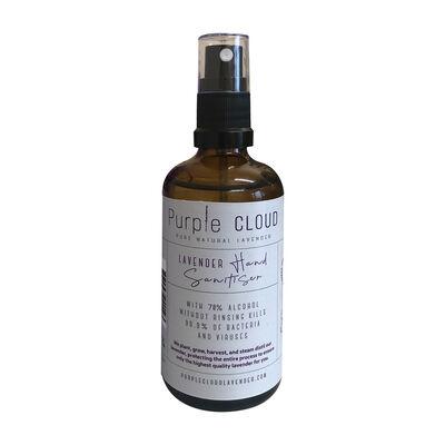 Purple Cloud Pure Natural Lavendar Hand Sanitizer, 100ml