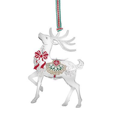 Newbridge Silverware Reindeer with Bow Hanging Decoration