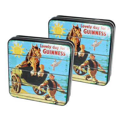 CLEARANCE - Guinness Gift Tin Of Fudge With Lovely Day For A Guinness Horse And Cart, 100g ( Two Pack)