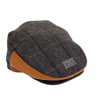 Patrick Francis Ireland Grey Celtic Knot Designed Kids Flat Cap