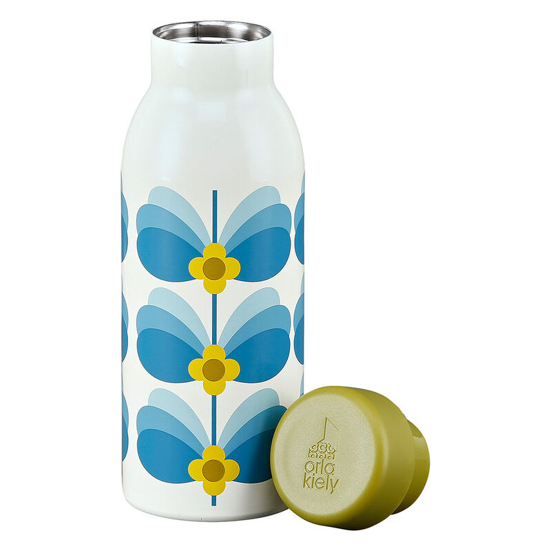 Orla Kiely Sky Butterfly Stem Designed Insulated Bottle
