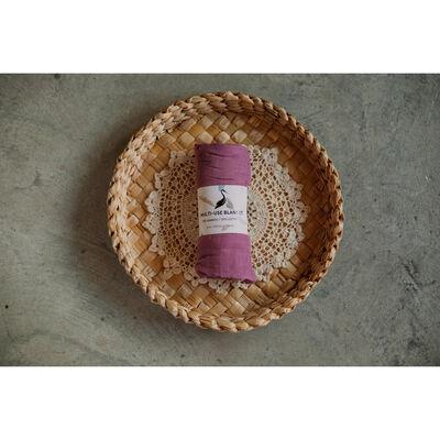 Storks & Co Bamboo Blanket, Purple Colour