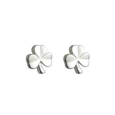 Hallmarked Sterling Silver Kid's Shamrock Earrings