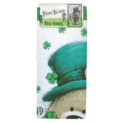 Paddy Bear Irish Designed T-Towel With Shamrock Design And Ireland Text