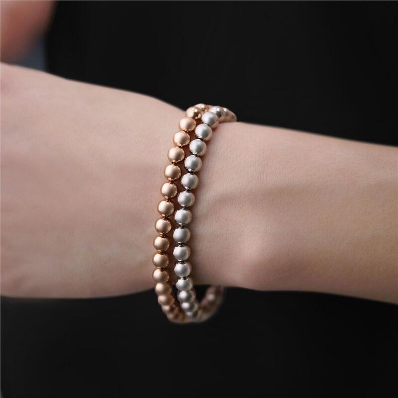 Newbridge Silverware Rose Gold Plated Ti Amo Beaded Bracelet